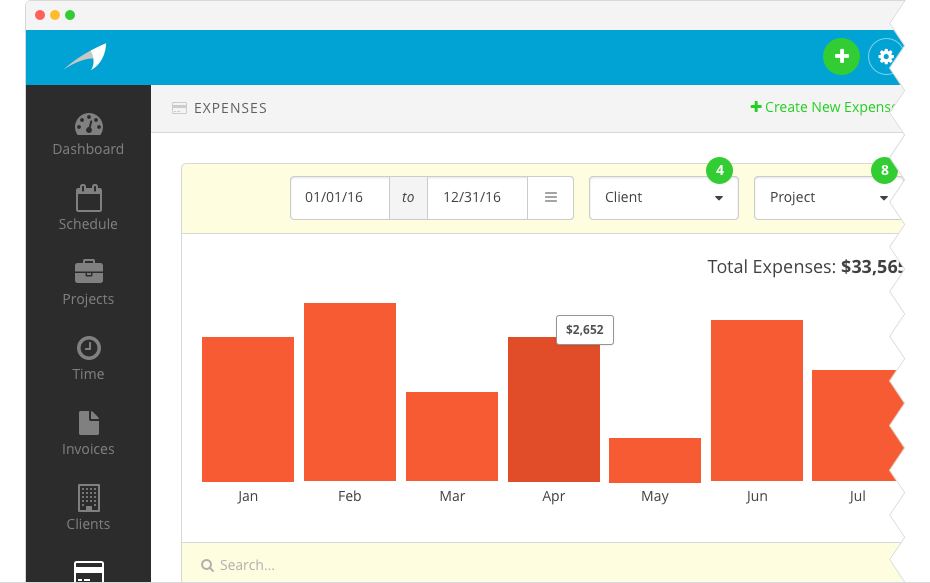 Easily track all of your business's expenses in one place.