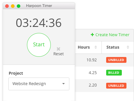 Harpoon Time Tracking