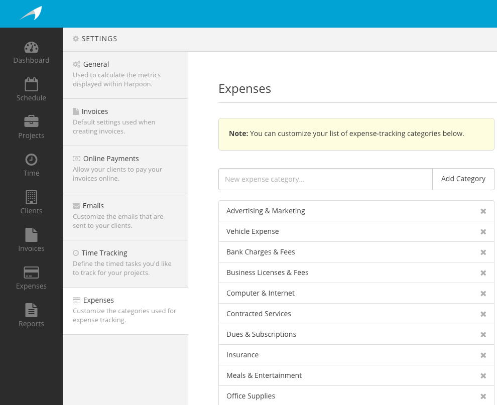 new feature custom expense categories