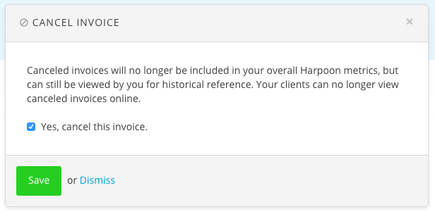 how do i cancel an invoice