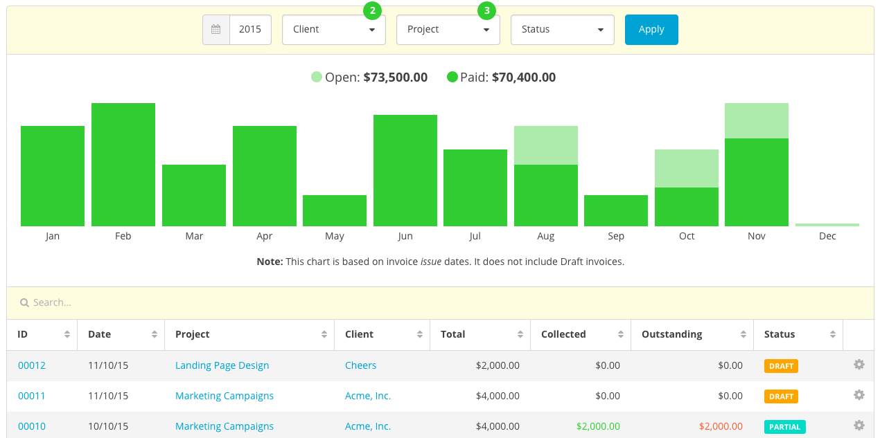 New Feature Redesigned Invoice Management - How to track invoices