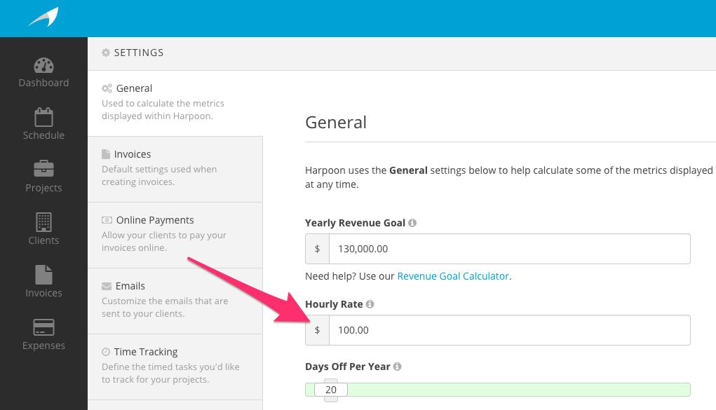 How do I set my hourly rate?